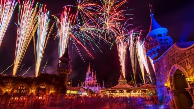 Fantasyland fireworks view