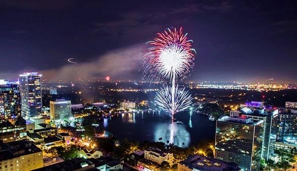lake eola fireworks