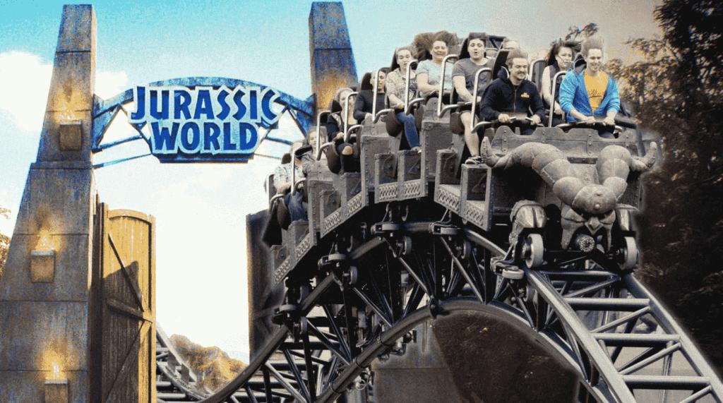 Jurassic Park roller coaster