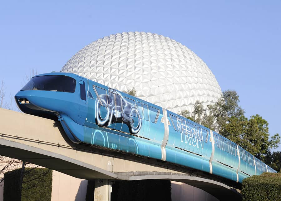 tron monorail disney world
