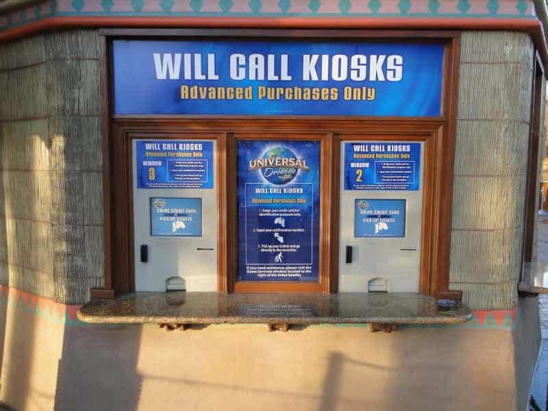 will call kiosks universal orlando