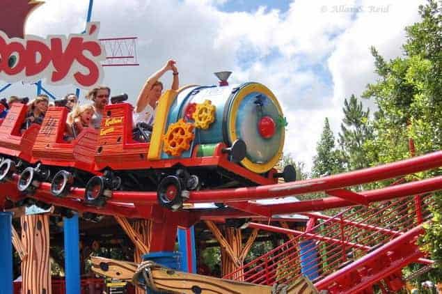 woody woodpecker roller coaster