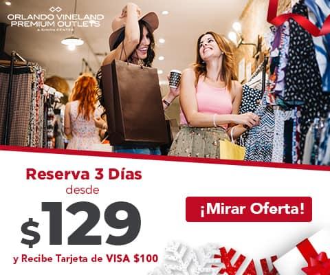 Personas comprando en Orlando Premium Outlets_ESP