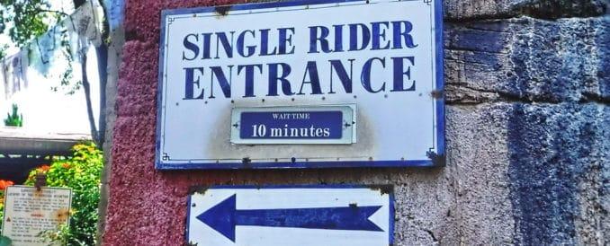 single rider entrance