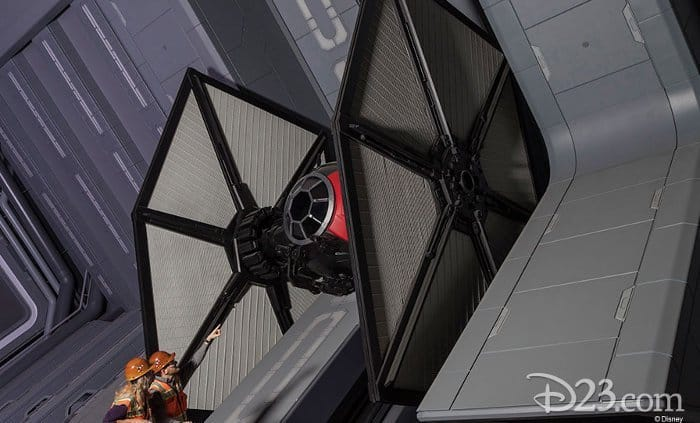 TIE fighter Star Wars Rise of the Resistance at Star Wars Galaxy's Edge